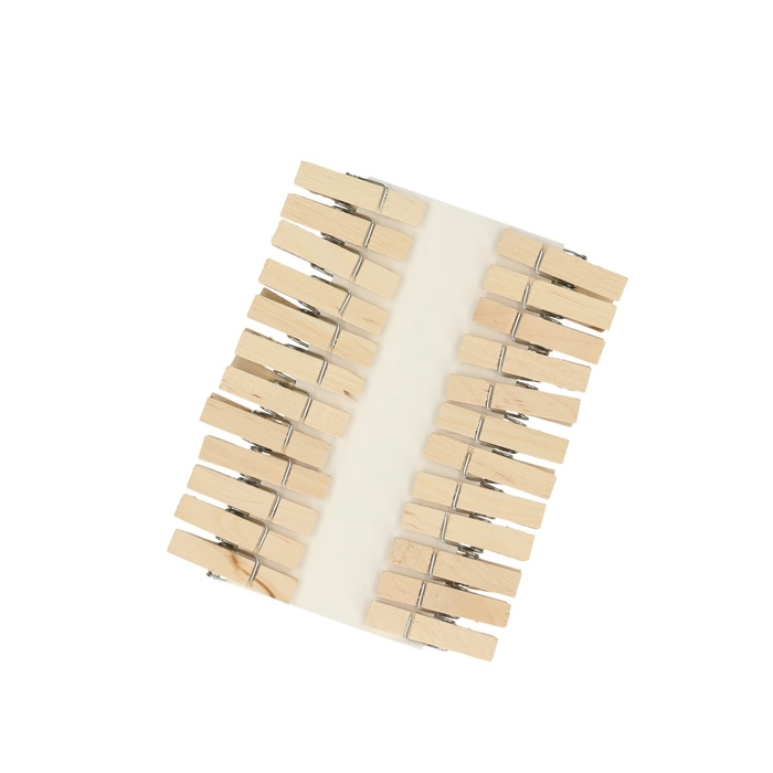 <h4>Decoration Pegs 35mm wood x24</h4>