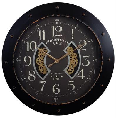 <h4>Clock Gear Ø110cm Black 60070</h4>