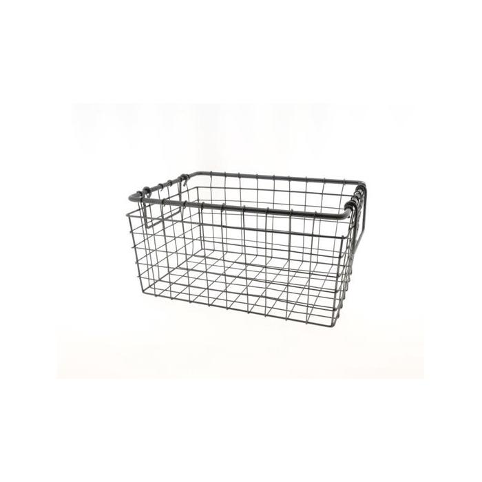 <h4>Basket Wire 35x25x17cm Black</h4>