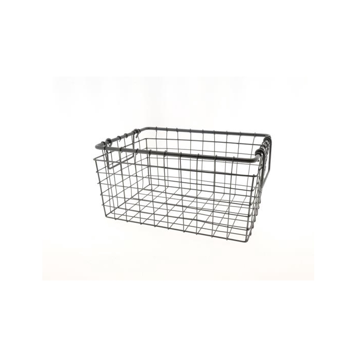 <h4>Basket Wire 35x25x17cm Black</h4>