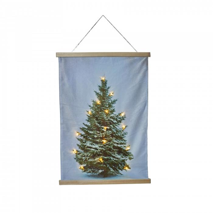 <h4>Kerst Muurdeco boom+LED d52*70cm</h4>