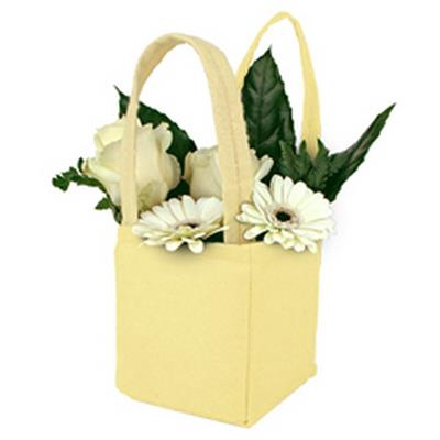 <h4>Bag Pastel felt 12,5x11,5xH14,5cm yellow</h4>
