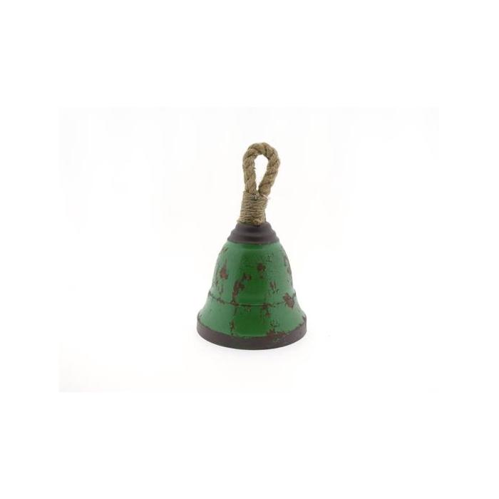 <h4>Bell Hang Mtl+rope H25cm Green</h4>