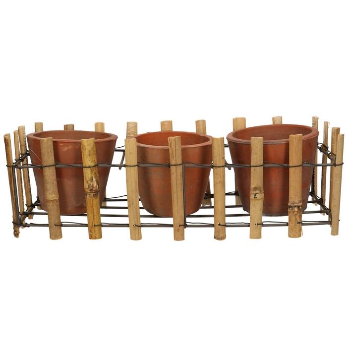 <h4>Sale Tray bamboo+2pot d36/12*12cm</h4>
