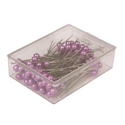 <h4>Epingles decoratives 6cm lila - boîte 100 pcs</h4>
