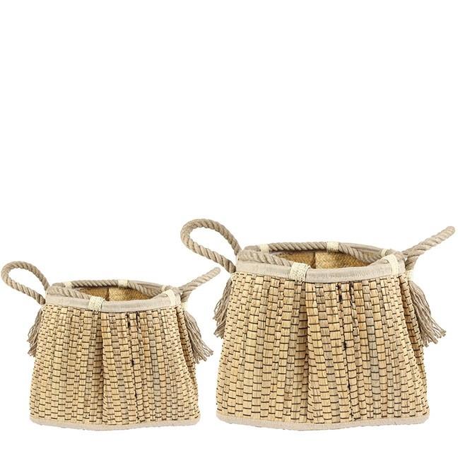 <h4>Baskets Ludo pot S/2 d37*29cm</h4>