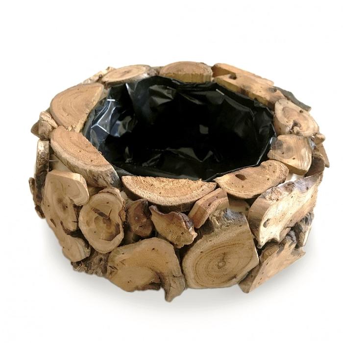 <h4>Hout Planter wood d20*9cm</h4>