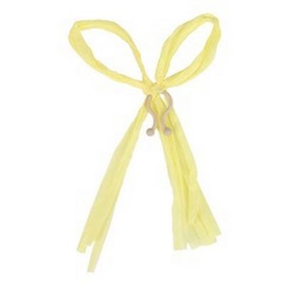 <h4>Raffia strik 17x12cm + clip geel</h4>