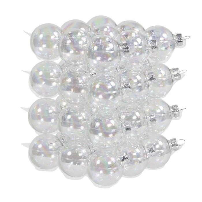 <h4>Christmas bauble Ball 40mm pearl x36</h4>