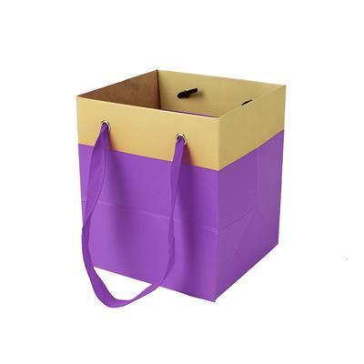 <h4>Sac Facile carton 9,5x9xH11cm violet</h4>