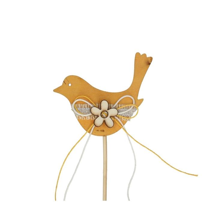 <h4>Bijsteker 20cm Vogel hout 9.5*7cm</h4>