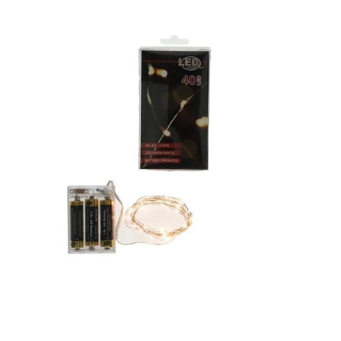 <h4>Christmas LED wire  40lmp 2m (ex.batt)</h4>