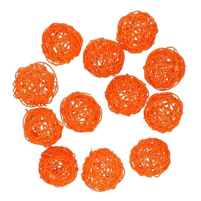 <h4>Decoration Rattan ball d6cm x12</h4>