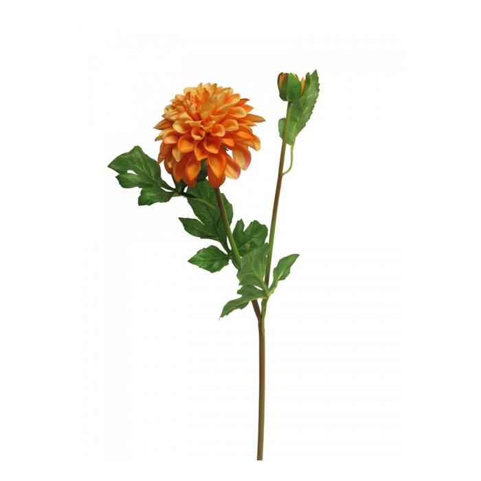 <h4>SILK FLOWERS - DAHLIA MINDY ORANGE 64CM</h4>