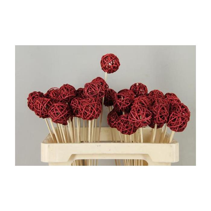 <h4>Stick Bruce Ball Red+glitter</h4>