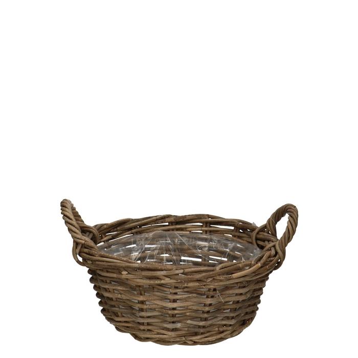 <h4>Baskets Rattan dish+handle d35*15cm</h4>