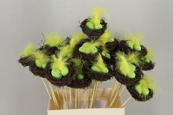 <h4>Stick Nest Salim + Eggs Green</h4>