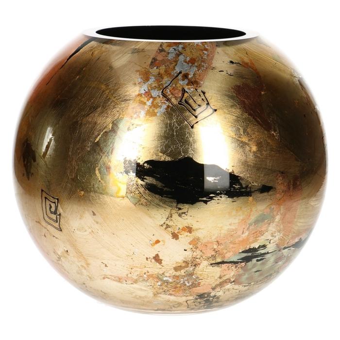 <h4>Glas Fidrio Golden Art bolvaas d25*25cm</h4>