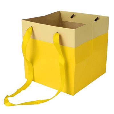 Bag Facile carton 16x16x16cm yellow