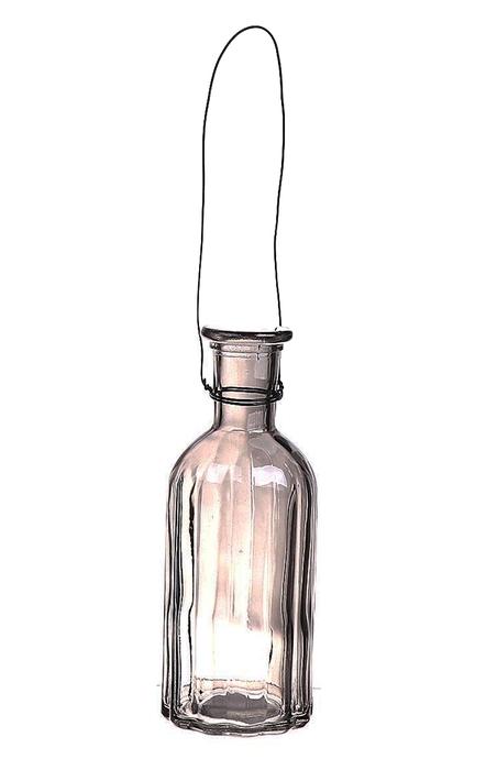 <h4>DF663030400 - Hanging bottle Louvre2 d7.4xh19 grey</h4>