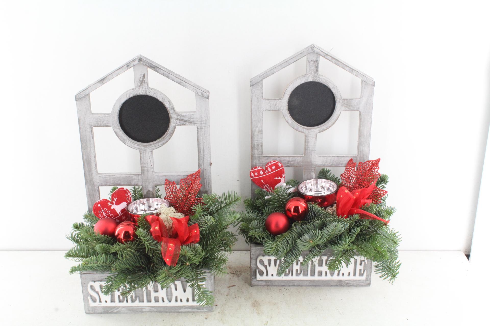 Arr.. Kerst Pl - Hout Huis Rood