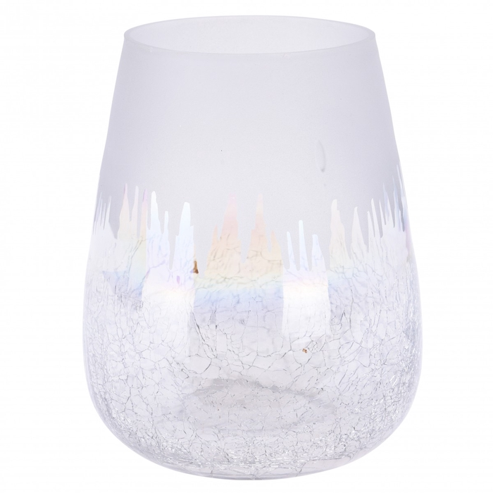 <h4>Candlelight Glass frosted d08*08cm ass</h4>