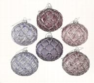 <h4>Christmas ball Safina, 6 ass., Ball, D 8 cm, Glas lackiert, Violet glass laquered violett</h4>