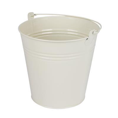 <h4>Bucket Sevilla zinc Ø15,5xH14,8cm -ES14 / 15 cream</h4>