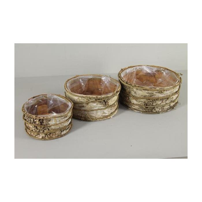 <h4>Pot Birch Bark+vines S/3</h4>