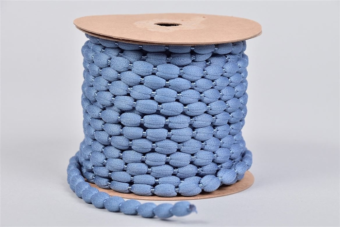 <h4>Lint Pompom Blauw 15 Meter</h4>