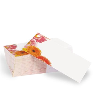 <h4>Flower card Gerbera white - 100 pcs</h4>