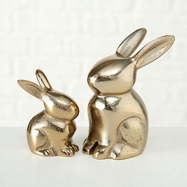 <h4>Figurine Roger, Rabbit, H 13 cm, Aluminium, Gold aluminium gold</h4>