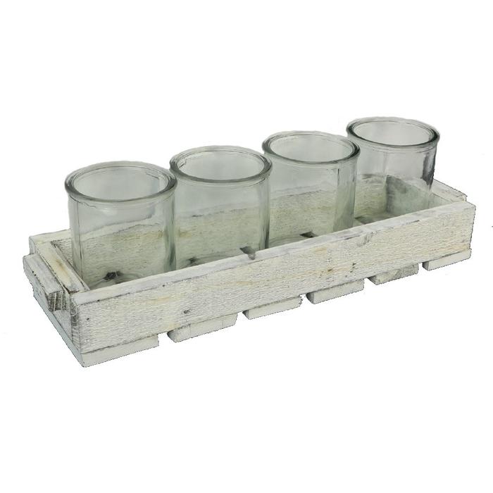 <h4>Sale Container 4pot wood 38*12*5cm</h4>