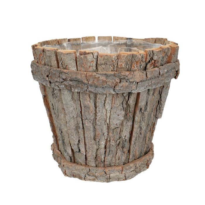 <h4>Manden Bark pot rond d26*22cm</h4>