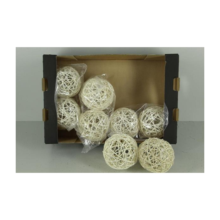 <h4>Bruce Ball 15cm White Glt(2pc)</h4>