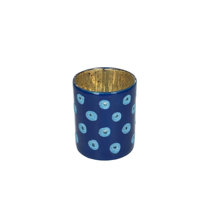 <h4>Glass colour Cylinder dots d08*9cm</h4>