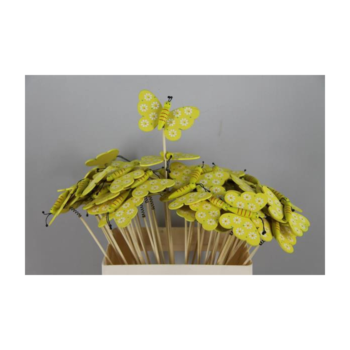 <h4>Stick Butterfly Wooden Yellow</h4>