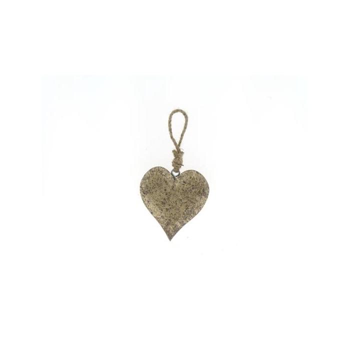 <h4>Heart Wood Hang 11cm Platinum</h4>