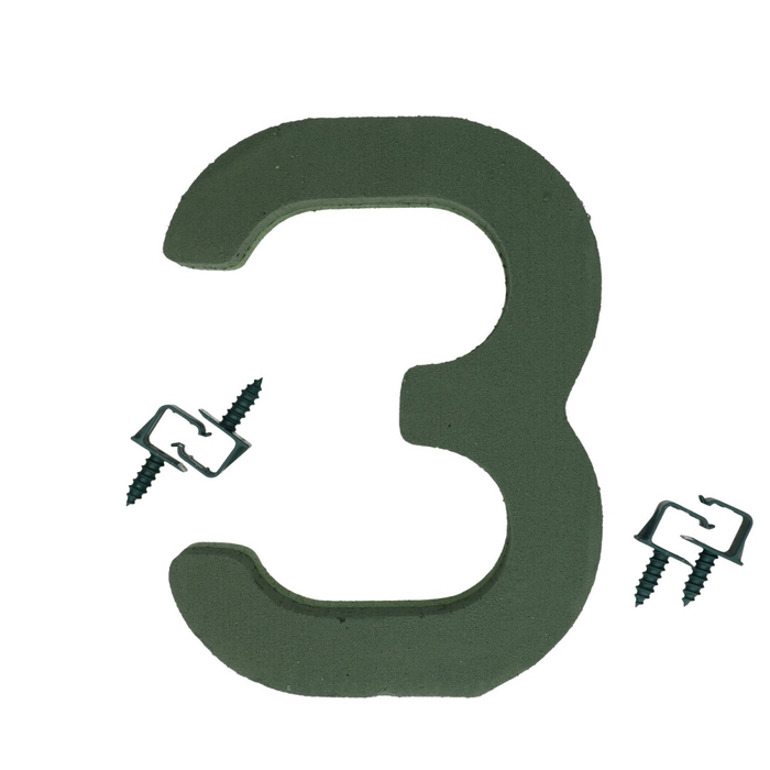 <h4>Steekschuim Basic Cijfer 3 27cm</h4>