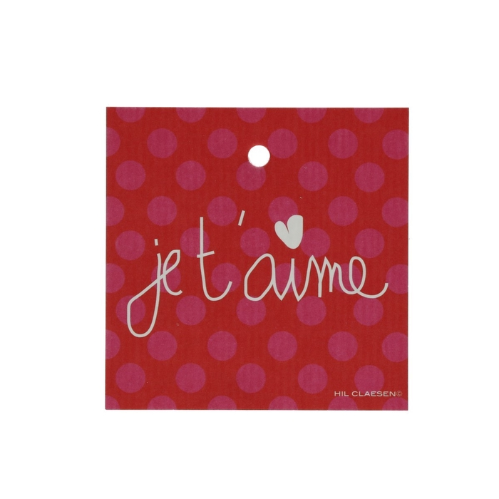 <h4>Labels Cards 70mm x25 Je t'aime</h4>
