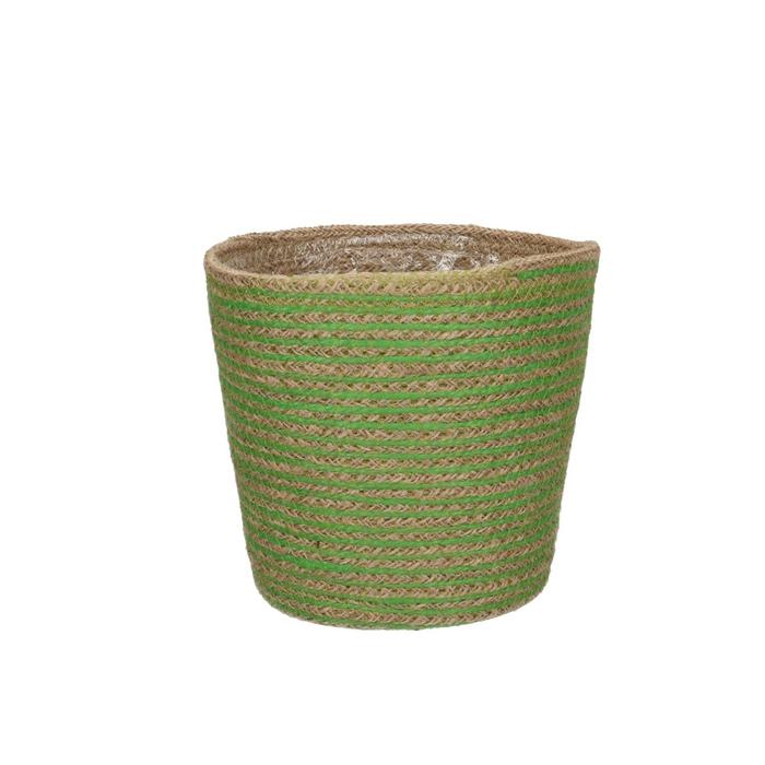 <h4>Baskets Pot Jute stripes d18*17cm</h4>