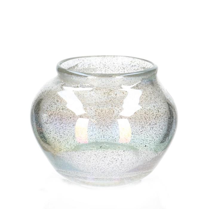 <h4>Glas Fidrio Platinum vaas  d14/22*18cm</h4>