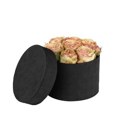 <h4>Hoedendoos Fabric karton Ø14xH10cm zwart</h4>