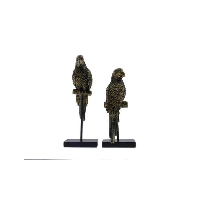 <h4>Fig. Parrot Stand Mix 34cm Gld</h4>