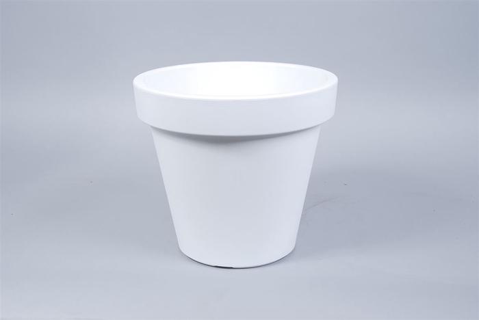 <h4>Kunststof Pot Wit Brede Rand 35cm</h4>