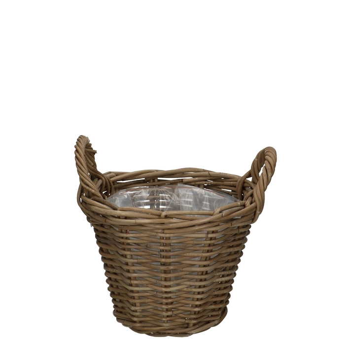 <h4>Baskets Rattan pot+handle d30*23cm</h4>