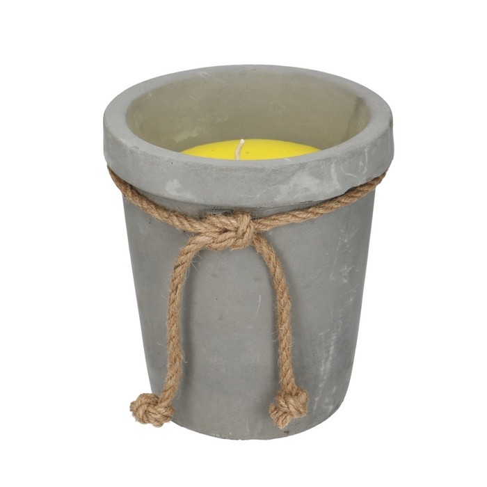 <h4>Candle Candel in cement pot d15*17cm</h4>