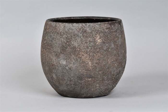 <h4>Bali Indonesian Grey Pot 24x21cm</h4>