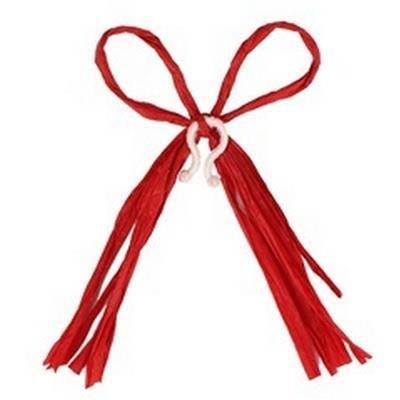 <h4>Raffia strik 17x12cm + clip rood</h4>