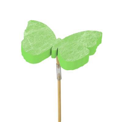 Pique papillon Fiber foam 7x7cm+50cm bâton vert